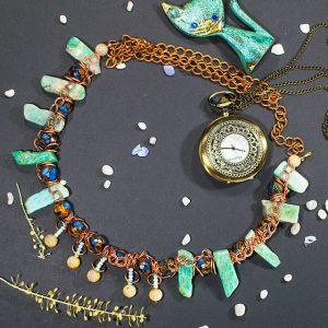 Ожерелье Амазонит, Волосатик (волосы Вероники), Варисцит 2